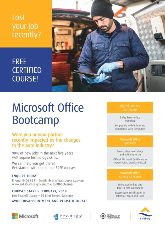 Microsoft Office Bootcamp City Of Salisbury Feb 2018 Whats On