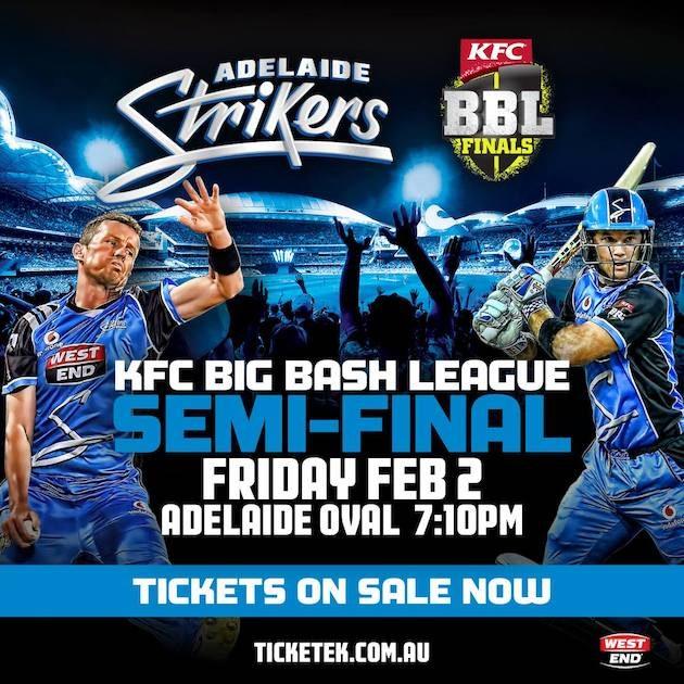 big bash league semi final adelaide strikers
