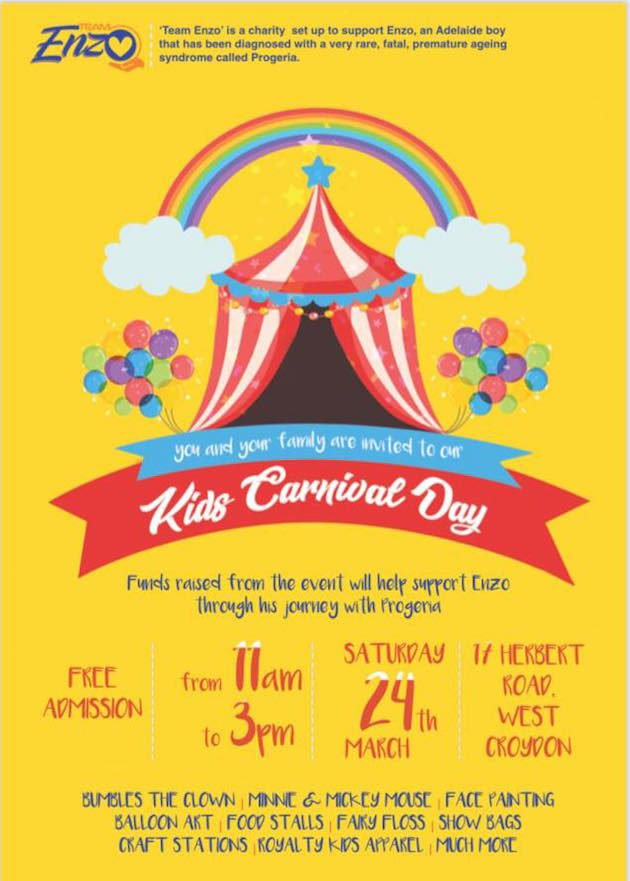 Kids Carnival Day Supporting Team Enzo