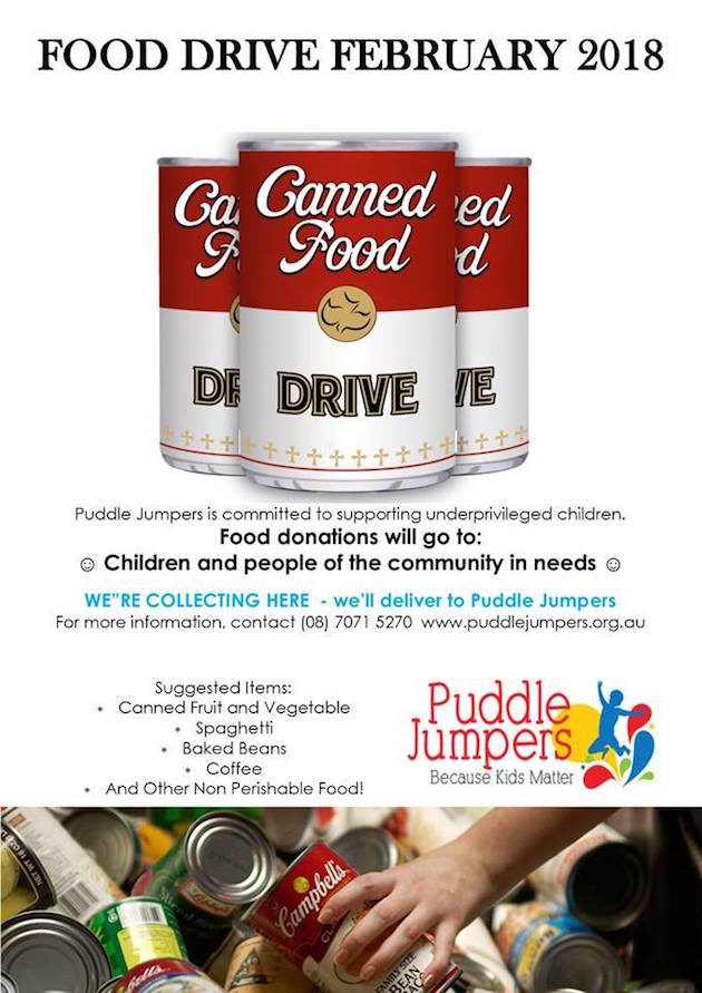 Food Drive February   Puddle Jumpers   Feb 2018 - What's ...