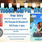 outdoor movie night moana