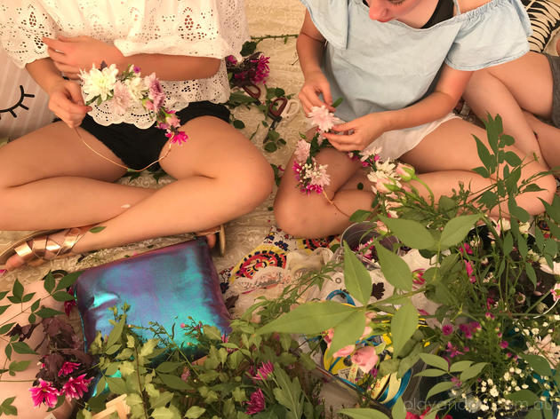 bloom flower crown party