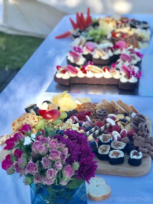 kids birthday party platter