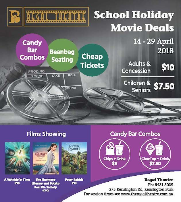 regal theatre school holiday movie deals kensington park