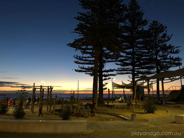 Glenelg foreshore playground sunset