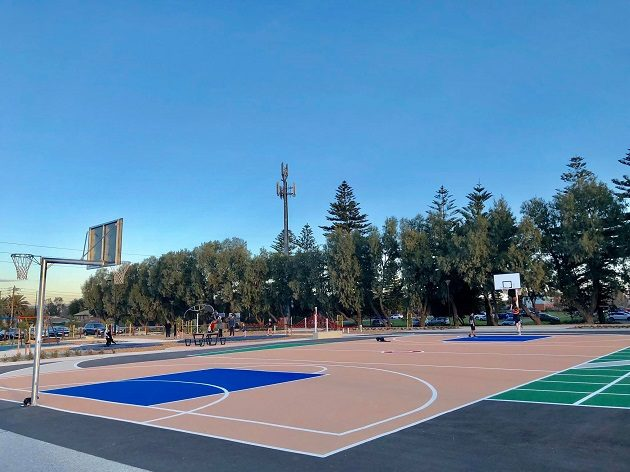 roy marten basketball court