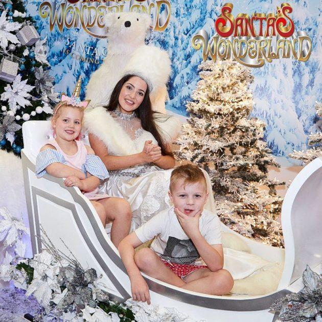 santas wonderland adelaide sleigh