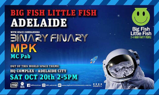 Big Fish Little Fish family rave Adelaide launch