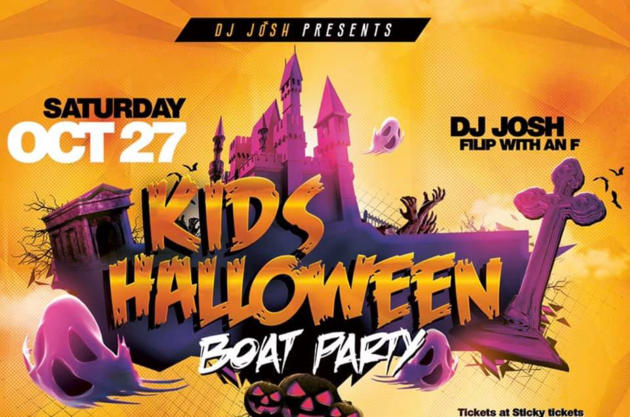 kids halloween boat party