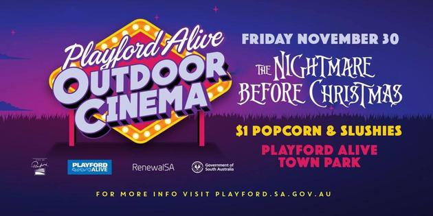 playford alive outdoor cinema night before christmas