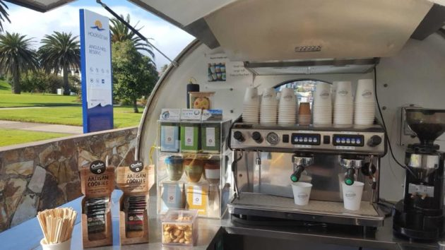 Angus Neill Reserve Seacliff playground review by Susannah Marks Holdfast Beach Club coffee van