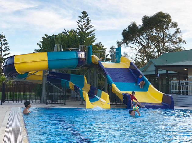 West Beach Parks Resort Adelaide waterslide
