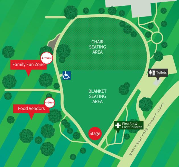 civic park carols map
