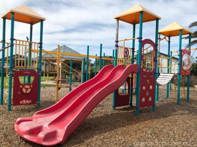 west beach resort playground