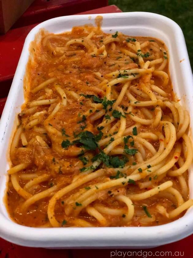 crab spaghetti fringe Luigi