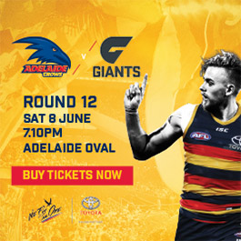 Adelaide Crows vs GWS GIANTS Football Game | Adelaide Oval
