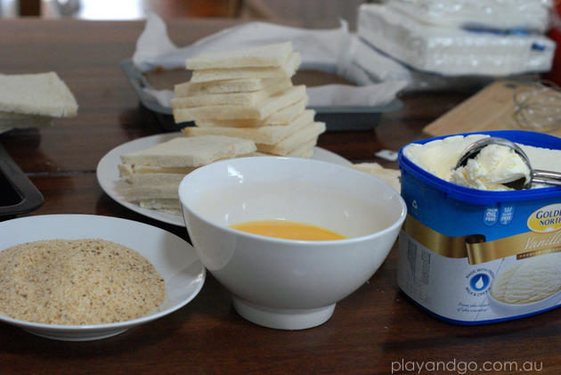 Deep Fried Ice Cream Recipe ingredients