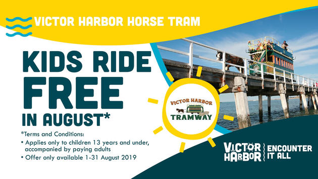 kids free in august victor harbour