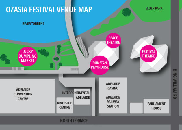 OzAsia Festival Venue Map 2019