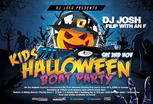 kids halloween boat party