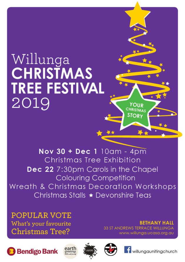 willunga Christmas Tree Festival 2019 Poster