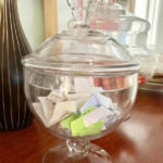memory happiness glass jar