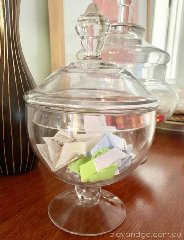 memory happiness glass jar