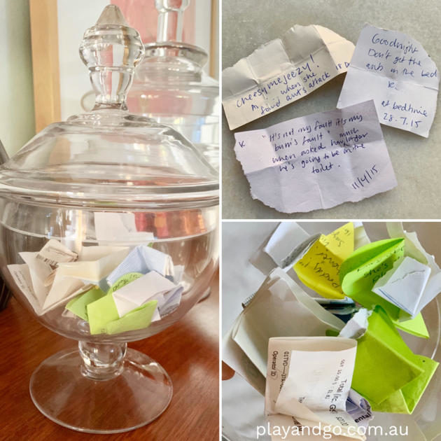 memory happiness jar