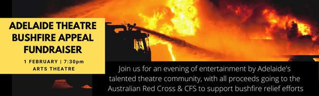adelaide theatre bushfire appeal