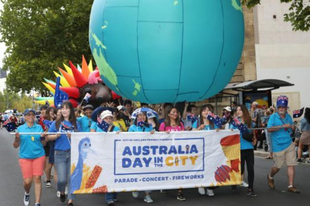 australia day in the city parade