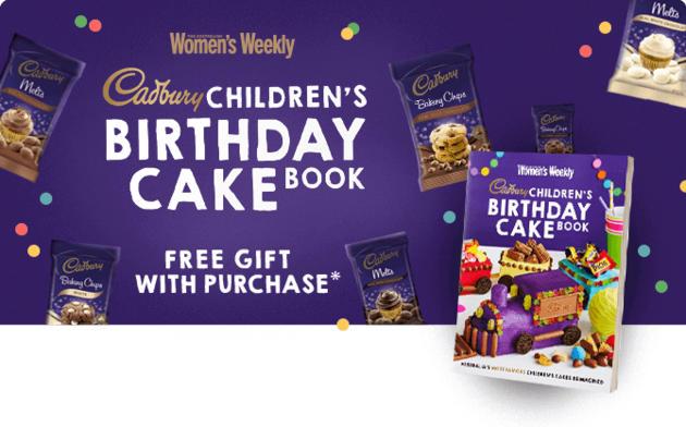 cadbury birthday cake book
