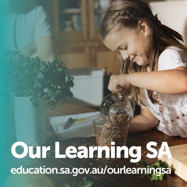 SA education department online learning website