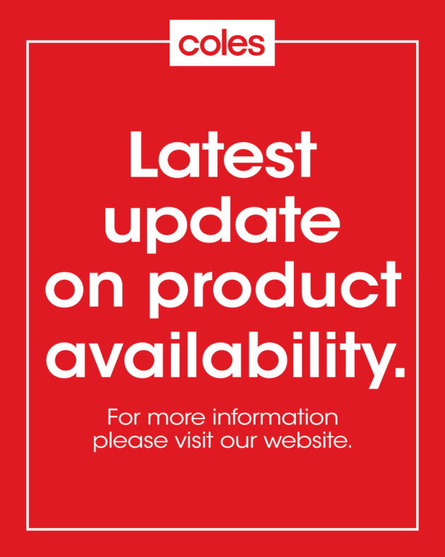 Coles product availability update