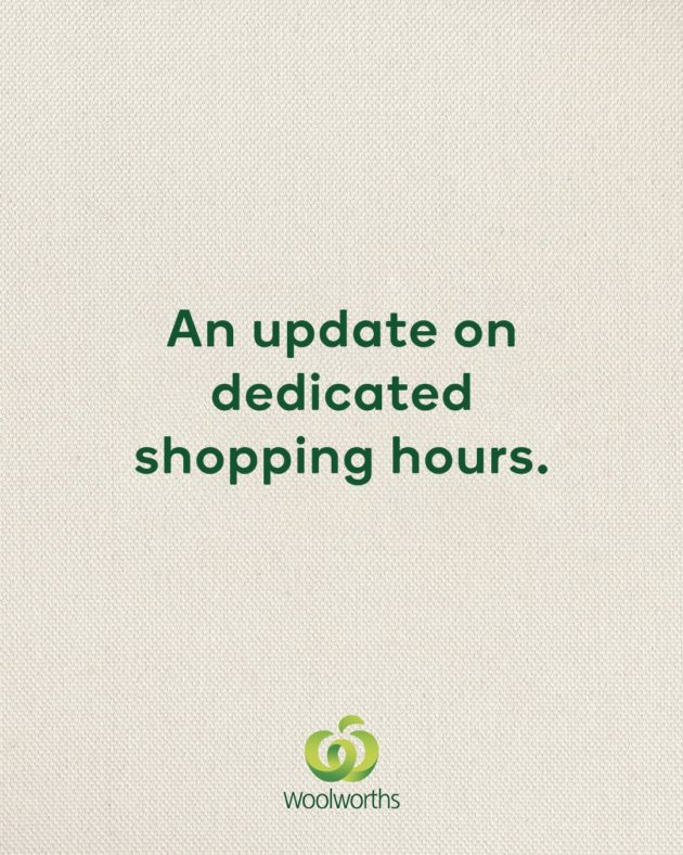 Woolworths shopping hours update