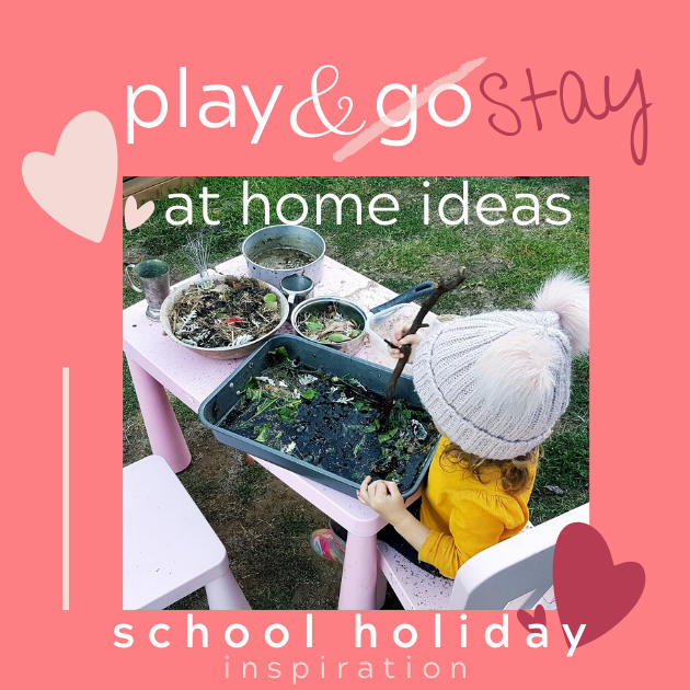 Play & Stay home ideas school holiday