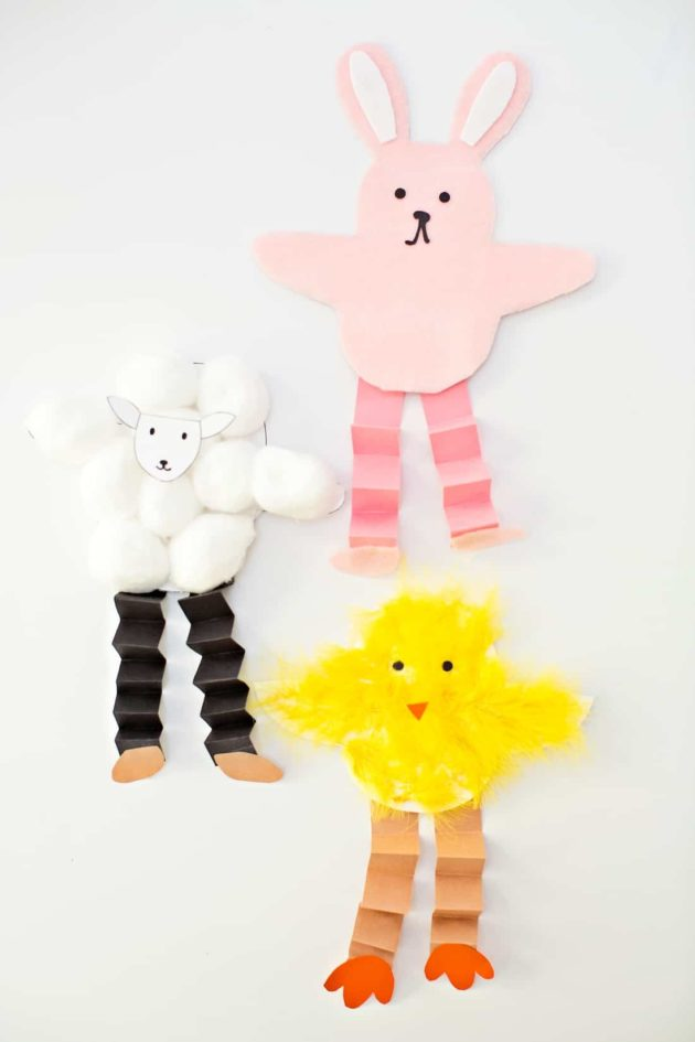 hello wonderful chick bunny sheep craft