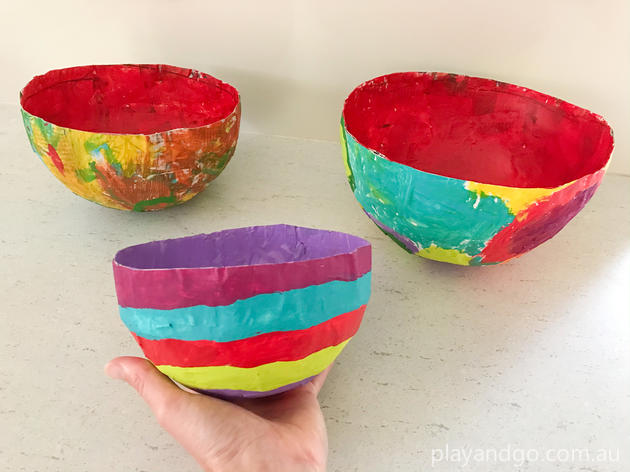 Paper Mache Bowls Stay At Home Kids Craft Ideas What S On For