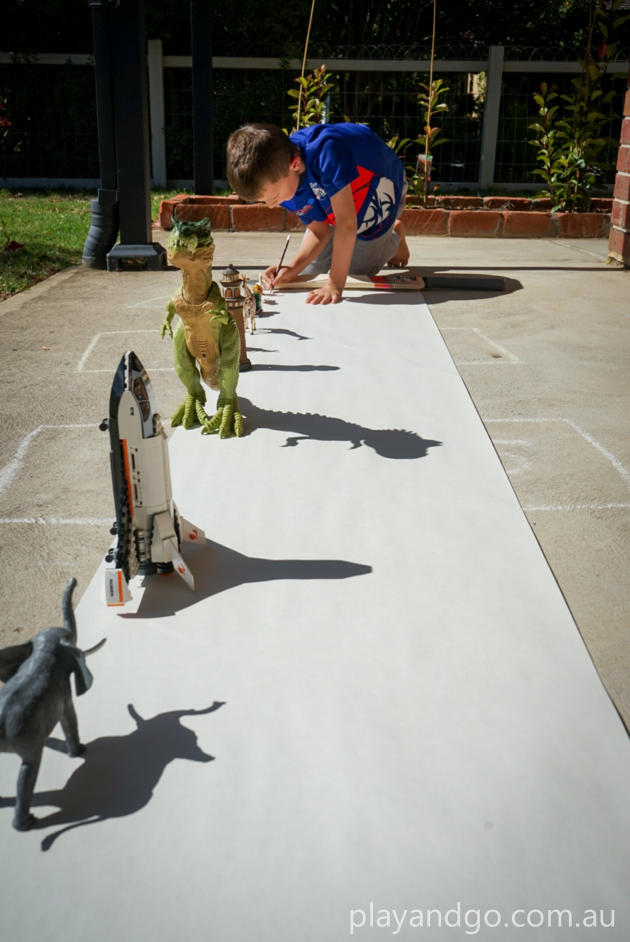 shadow drawing stay at home idea