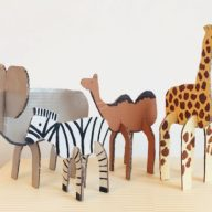 cardboard craft babysits