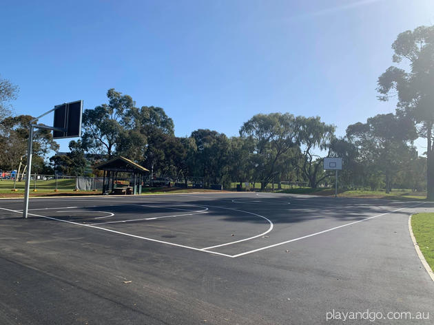 Fremont Park playground basketball court