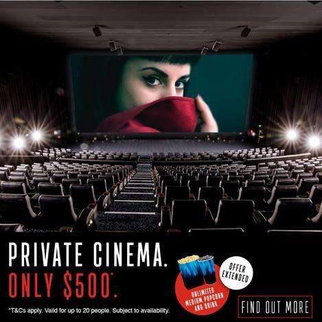 event cinemas private cinema