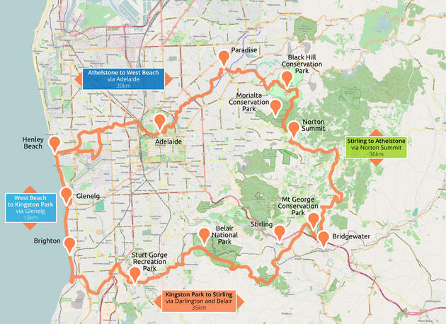 map of adelaide 100