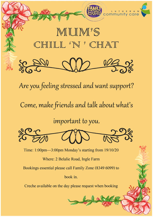 mums chat n chill flyer