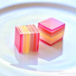 Rainbow layer Jelly Squares Pink