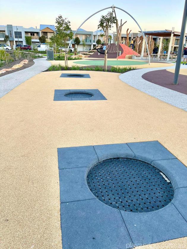 Lightsview Playground trampolines