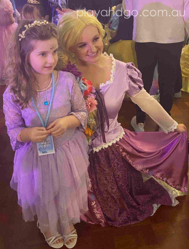 Meeting Rapunzel at The Royal Princess Ball Image Credit Susannah Marks