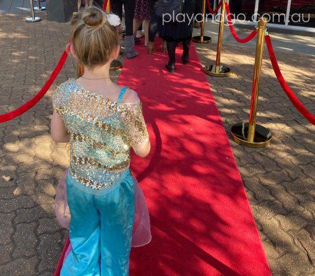 Getting the red carpet treatment at The Royal Princess Ball Image Credit Susannah Marks