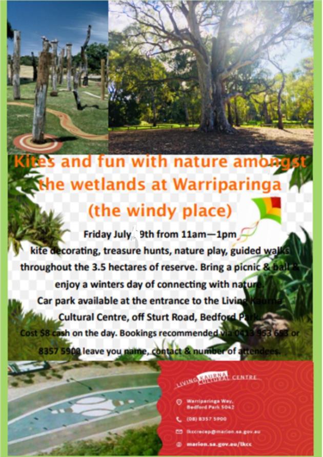 Kites & Fun with nature amongst the wetlands at Warriparinga